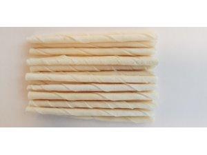 Bílá kroucená tyč 12cm x 5-6mm (100 /4000)