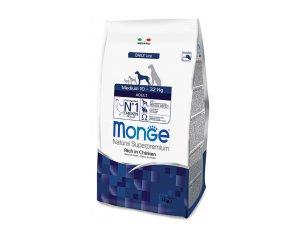 MONGE Dog Medium Adult Kuře , rýže 26/13,5  15 kg - chovatelské balení - monge_new_cane_secco_medium_adult 3kg.jpg