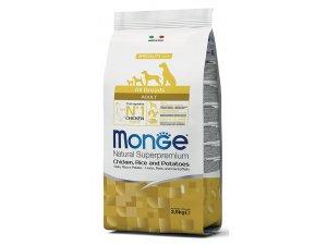 MONGE Dog Kuře, rýže, brambory  25/15  15kg - chovatelské balení - kuře brambor adult.jpg