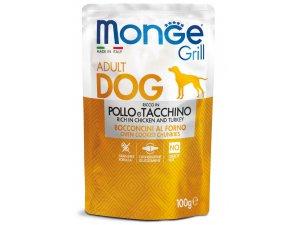 MONGE GRILL Dog Kapsička kuře,krůta  100g/24bal
