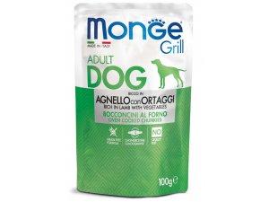 MONGE GRILL Dog Kapsička jehněčí se zeleninou 100g/24bal