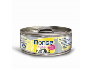 MONGE DELICATE Cat  konzerva  kuřecí prsa 80g/24bal.