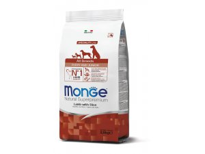 MONGE DOG Puppy & Junior Jehně, rýže 30/18 15kg chovatelské balení - ALL BREEDS PUPPY JEHNĚ 2,5kg.jpg