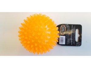 Míček s bodlinkami nepískací - oranžový TPR