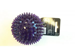 Míček s bodlinkami nepískací - fialový TPR