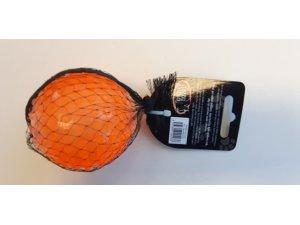 Míček s otvorem pískací - oranžový TPR