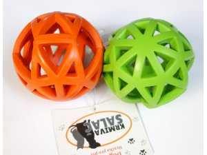 Děrovaný míč oranžový 9cm (120/1)