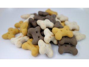 Sušenky pro štěňata MIX 2cm  500g