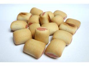 Sušenky trubičky s lososem 2cm  500g