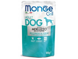 MONGE GRILL Dog Kapsička treska  100g/24bal