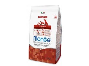 MONGE DOG Jehně, rýže, brambory 25/16  2,5kg