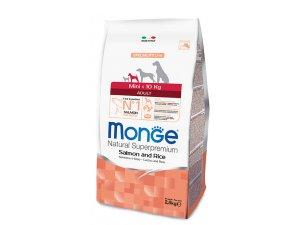 MONGE DOG Mini Adult Losos, rýže 27/14  2,5kg