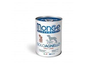 Monge Dog SOLO GRAIN FREE Jehně monoprotein  400g/24bal