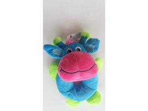 Modro-růžová žirafa  - 18 cm