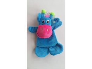 Modro-růžová žirafa - plochá  - 20 cm