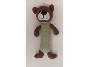 Medvěd pruhovaný hnědý  - 33 cm pískací