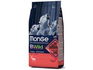 MONGE BWILD Dog - Srnčí, Puppy & junior 2kg