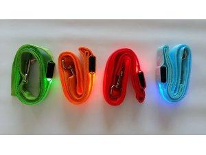 Vodítko nylon LED SVĚTELNÝ ZDROJ - ORANŽOVÉ 120cm