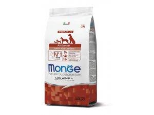 MONGE Dog Puppy & Junior Jehně, rýže 30/18 2,5kg