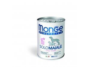 Monge Dog SOLO Vepř monoprotein  400g/24bal