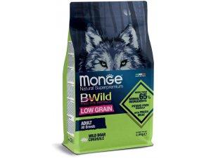 MONGE BWILD Dog - Low Grain - Divočák, Adult 2,5kg
