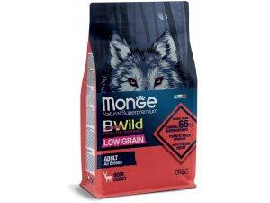 MONGE BWILD Dog - Low Grain - Srnčí, Adult 2,5kg