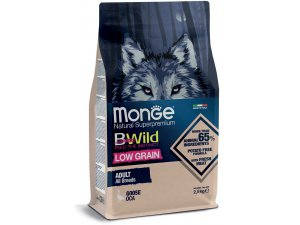 MONGE BWILD Dog Low Grain - Husa Adult, 2,5kg