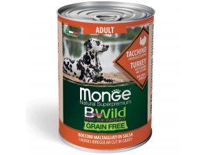 MONGE BWILD GRAIN FREE Adult, Krůtí kousky v omáčce s dýní a cuketou 400g