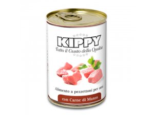 KIPPY Dog kousky v omáčce - hovězí 400g/24kart.