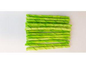 Zelená kroucená tyč 12cm x 4-6mm (100/4000)